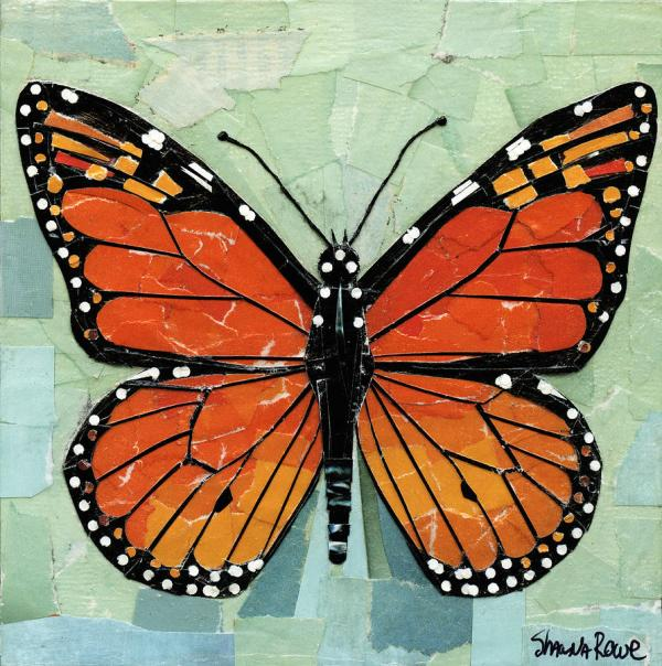 Paper Butterfly - Monarch Mixed Media Shawna Rowe