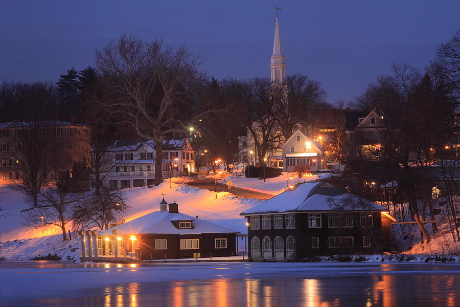 Paradise Pond Smith College Winter Evening Photograph by