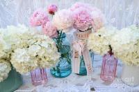 Pastel Pink Peonies Shabby Chic Art - Spring Flower Garden ...