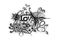 Pen And Ink Art Love Black And White Art Drawing by ...