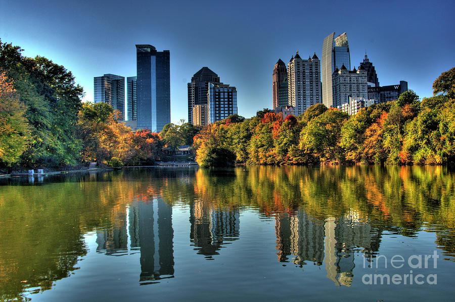 Piedmont Park Atlanta City View Photograph By Corky Willis