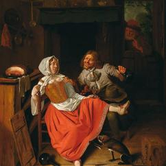 Kitchen Maid Used Table Pieter Van Roestraeten The Licentious Painting By Beautiful Artistic Panda