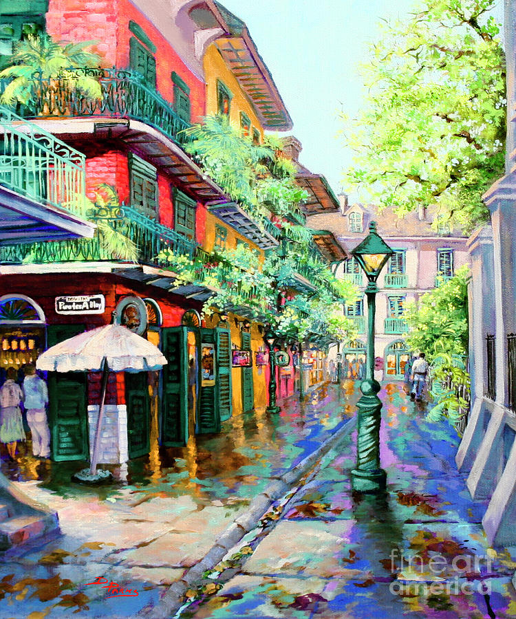 Pirates Alley French Quarter Alley Painting By Dianne Parks