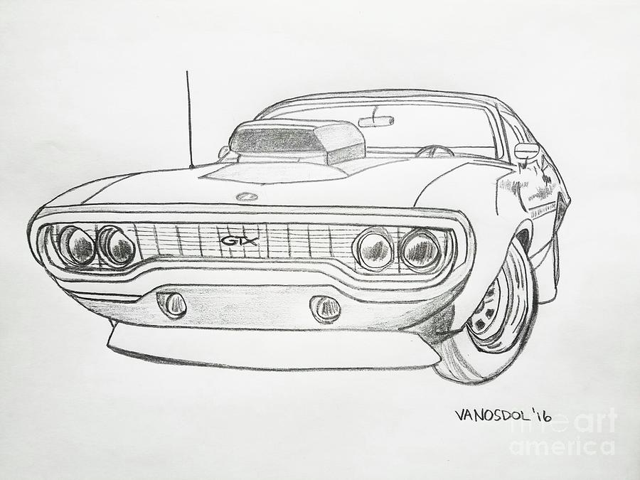Dodge Muscle Car Drawings Pencil
