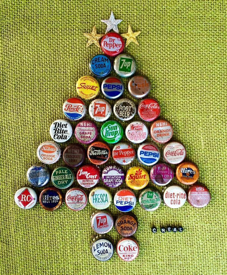 Pop Art Christmas Tree Mixed Media By Carol Neal