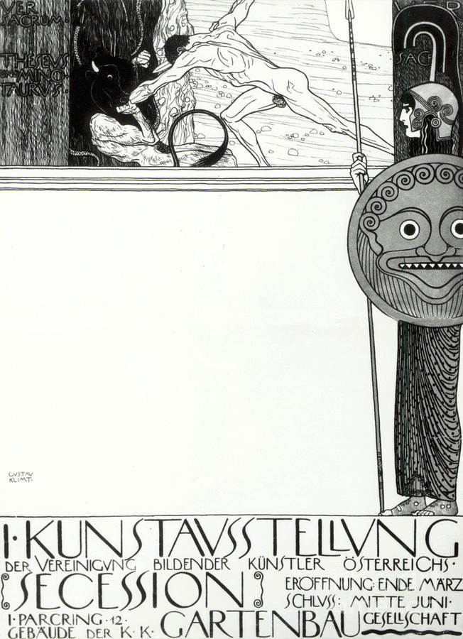 poster for the 1st vienna secession by gustav klimt