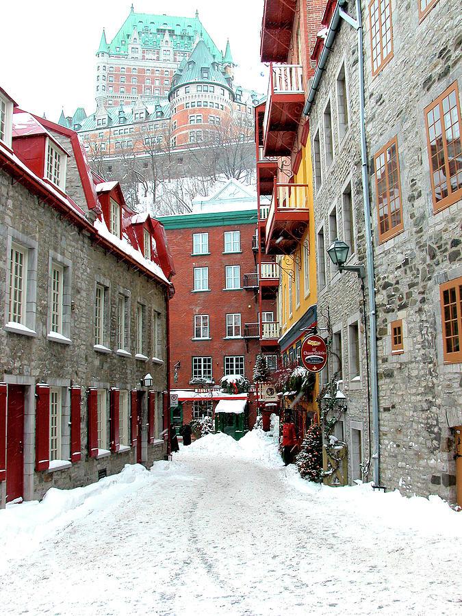 Quebec City Winter Photograph By Thomas R Fletcher