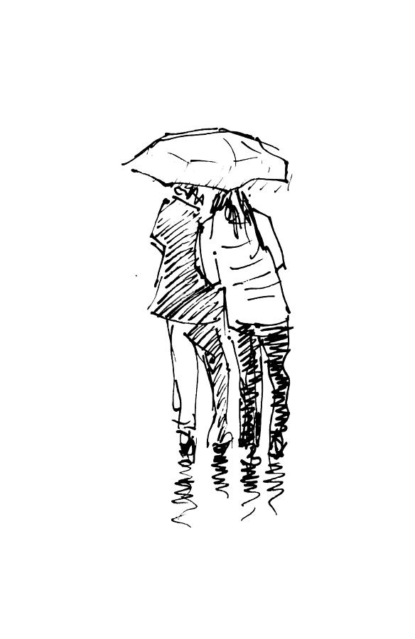 Rain Drawing : drawing, Rainy, Drawing, Ibolya, Taligas