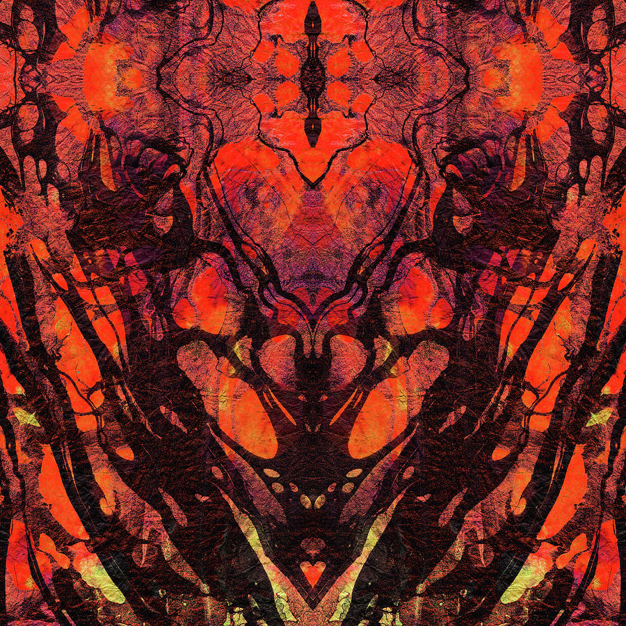 red abstract art heart