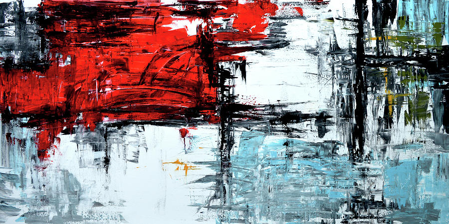 red black blue abstract