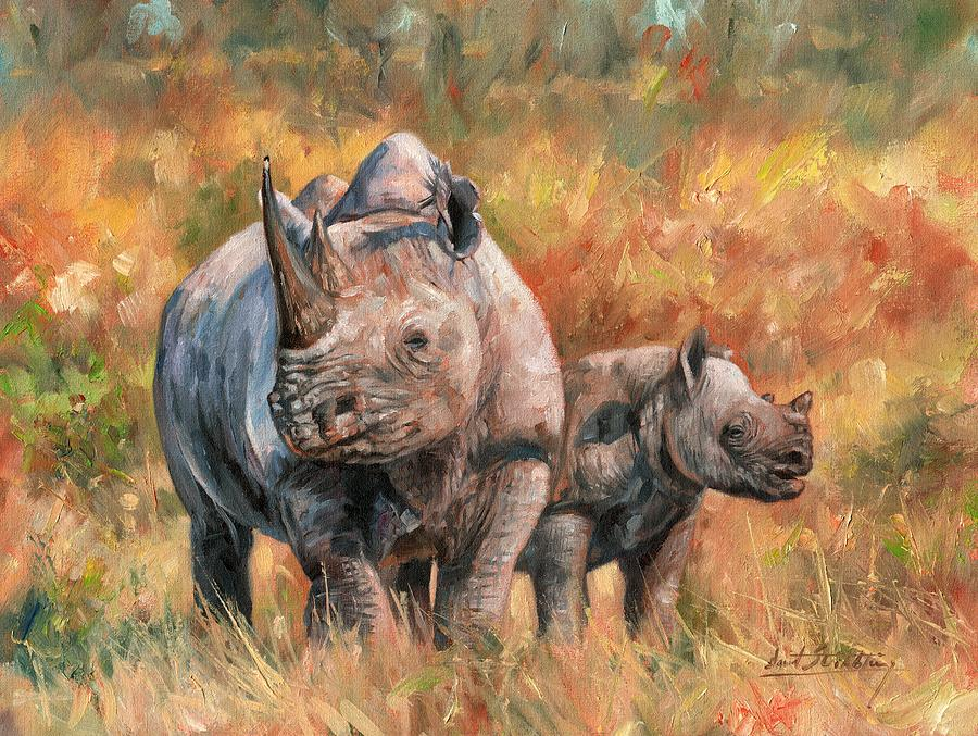 rhinos by david stribbling
