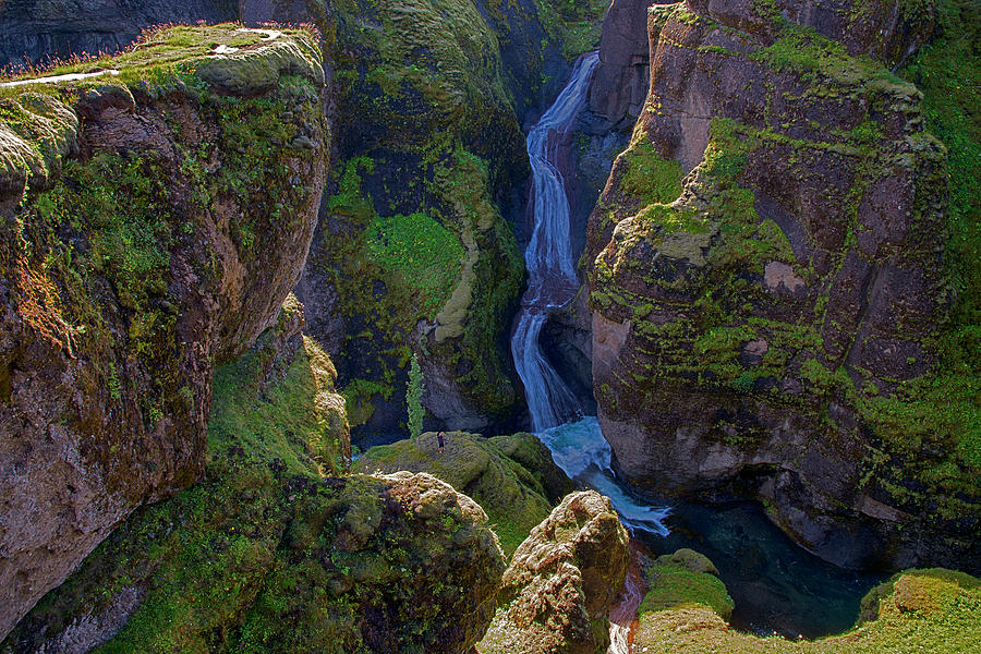 River And Green Canyons In Iceland Photograph by Dave Dilli