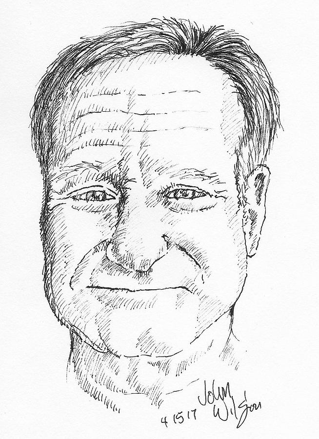 Robin Williams Drawing by John Wilson