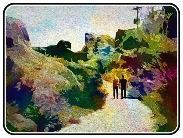 romantic stroll #2 digital art