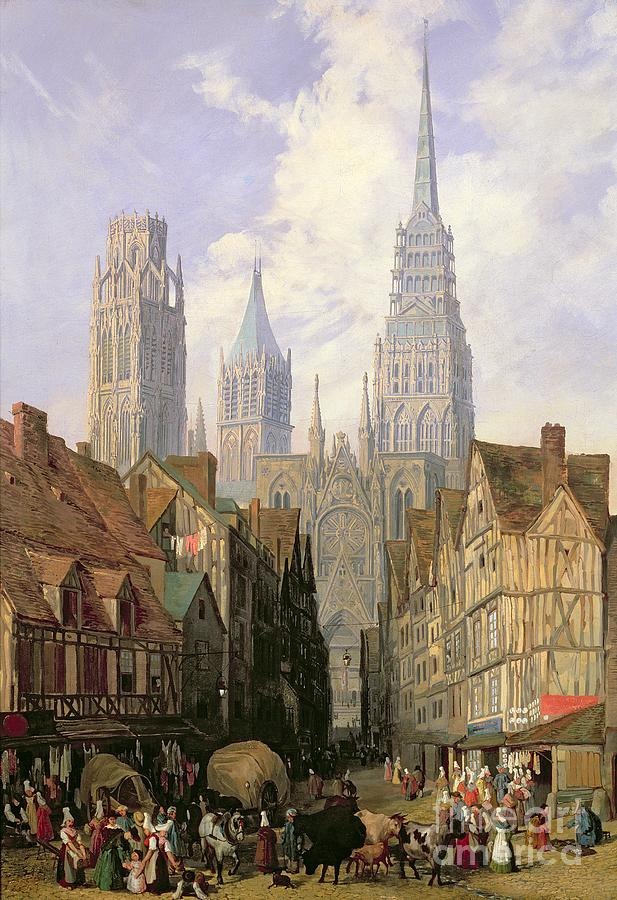 Netherlands Fall Wallpaper Rouen Cathedral Painting By Lewis John Wood