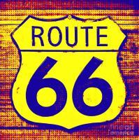 Route 66 Pop Art Photograph by Robert ONeil