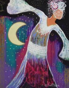 Sacred Dance Painting by Candy Schultheis