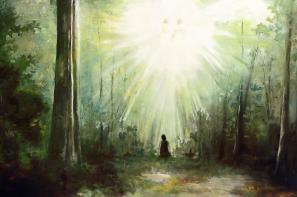 Sacred Grove Painting by Brent Borup