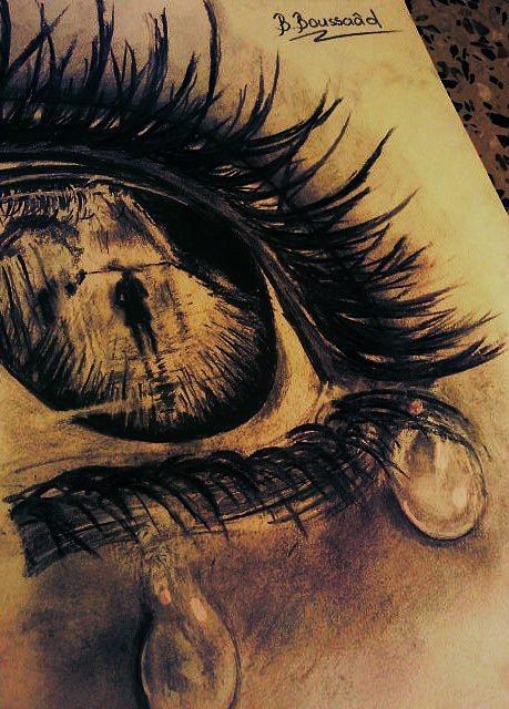 Sad Eyes Drawing : drawing, Drawing, BOUDJEMA, Boussaad