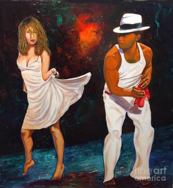 Salsa 2 Painting Jose Manuel Abraham