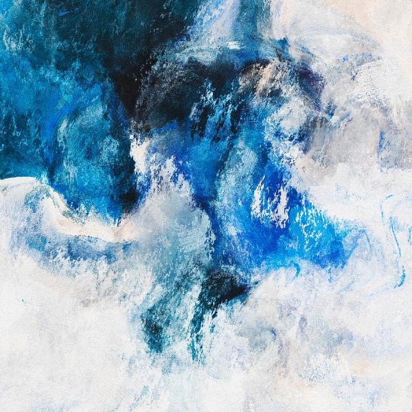 Seascape Abstract Painting - Minimalist Waves
