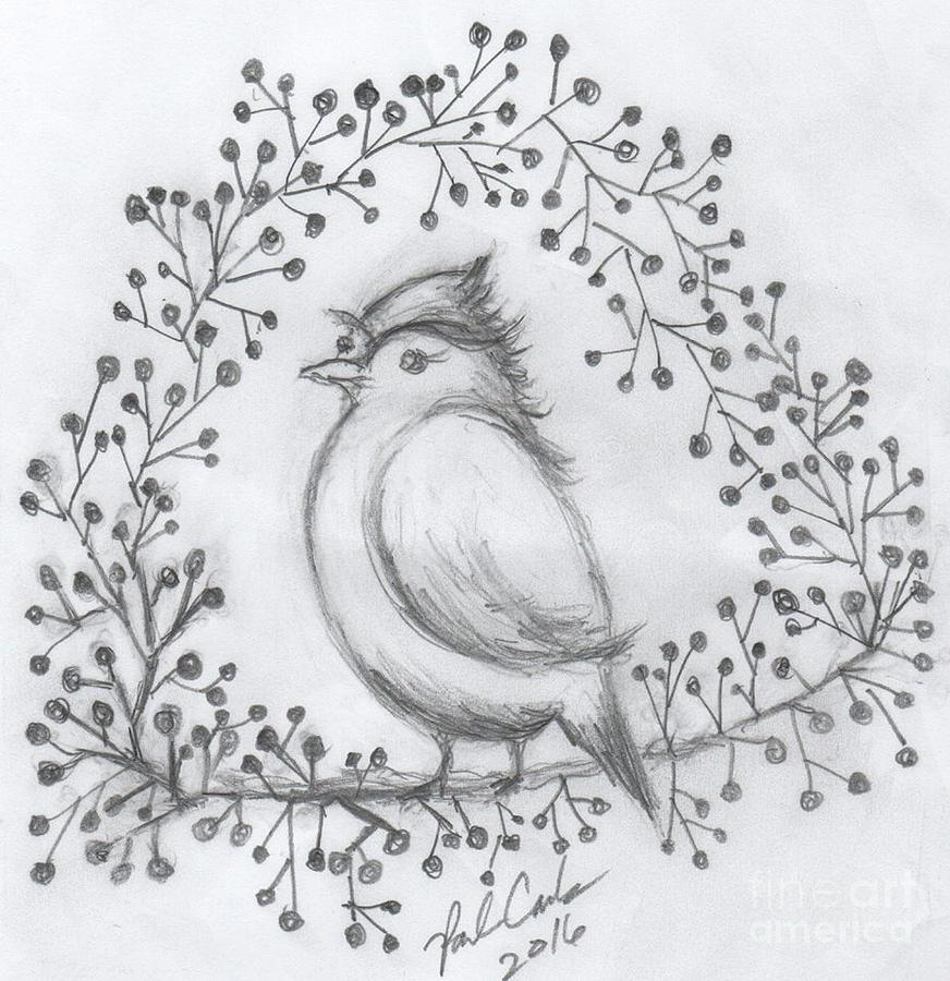 Simple And Sweet Drawing By Paula Cork