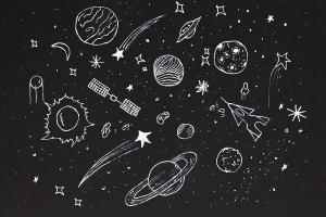 space sky drawing night sketch abstract elements drawings earth planets