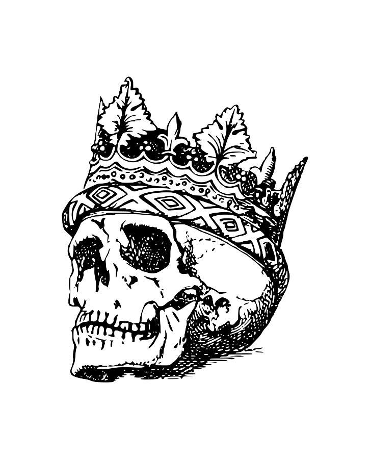 Skull Crown Drawing By Santiago Lopez Ballesteros