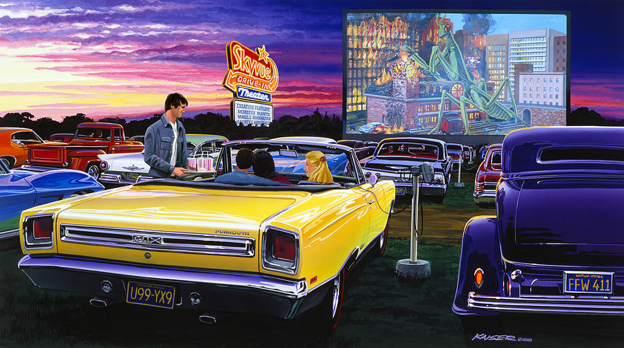1957 Cars Restored Or Wallpapers Sky View Drive In Photograph By Mgl Meiklejohn Graphics