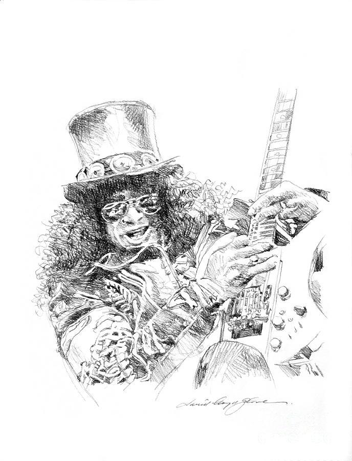 Slash Drawing by David Lloyd Glover