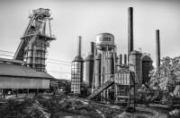 Sloss Furnace Black White In Birmingham Alabama Photograph