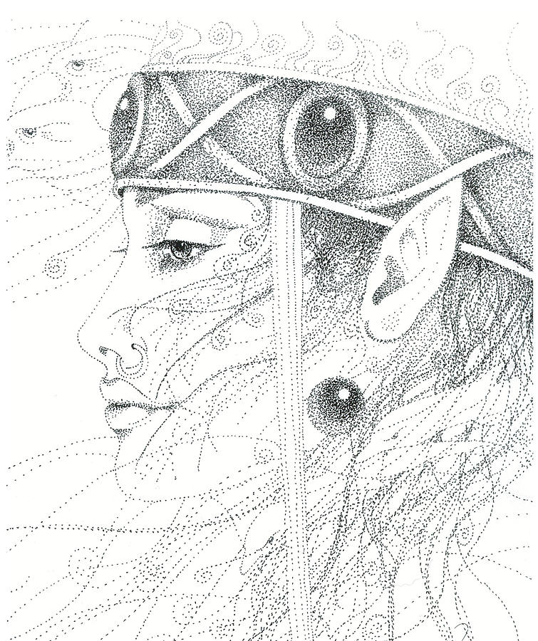 Spirit Guide Drawing by Christine Winters