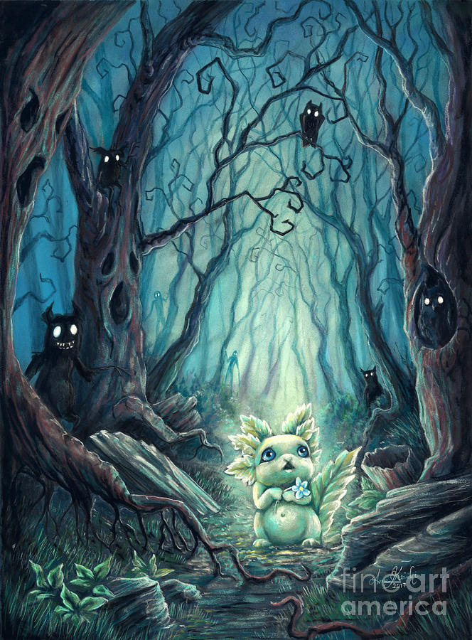 Spooky Forest Pastel by Anne Koivumaki  Fine Art Anne