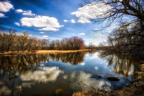 spring reflection - wisconsin landscape
