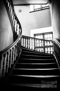 Stairway Riga Latvia Bw Photograph by RicardMN Photography