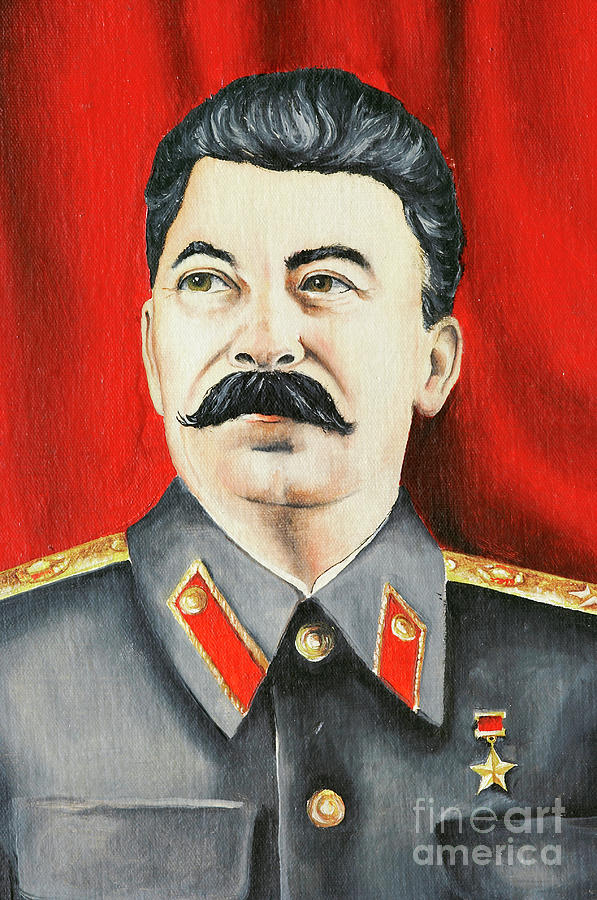 Stalin Painting By Michal Boubin