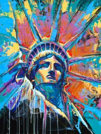 Statue Of Liberty New York Art Usa Painting by Damon Gray