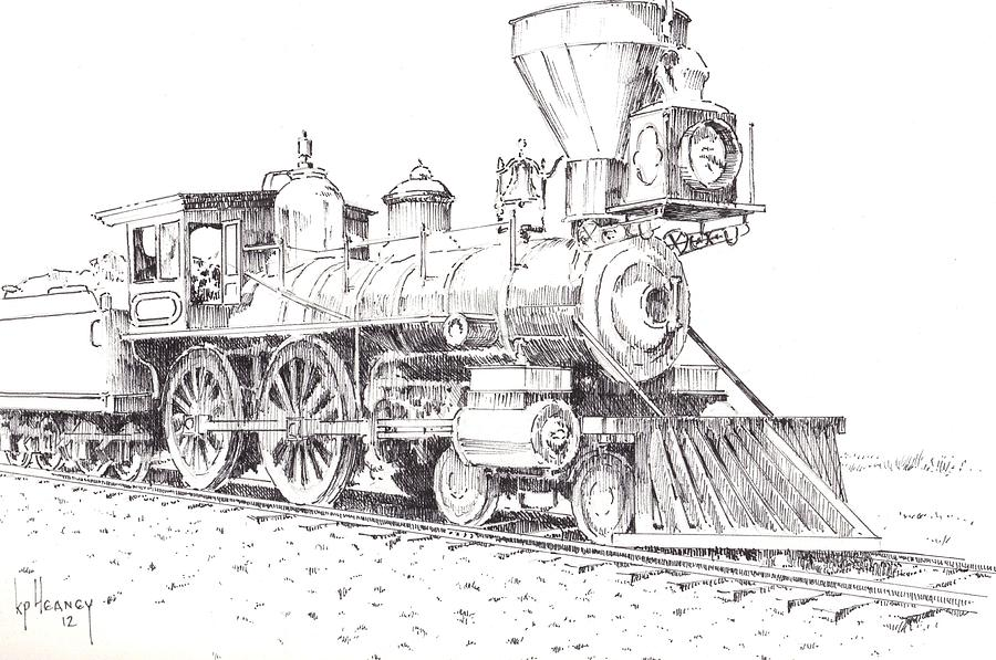 locomotive drawings free Gallery