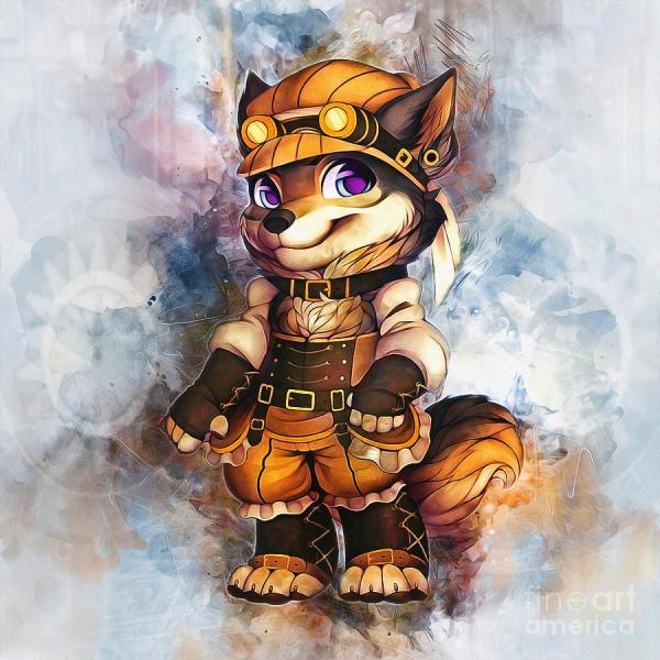 Steampunk Wolf Digital Art Ian Mitchell