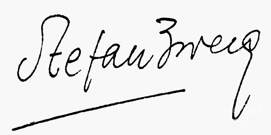Stefan Zweig (1881-1942) Photograph by Granger