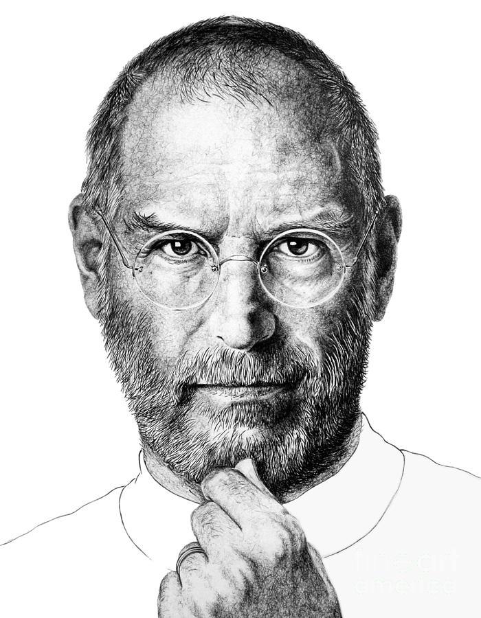 Steve Jobs Drawing : steve, drawing, Steve, Drawing, Guillermo, Contreras