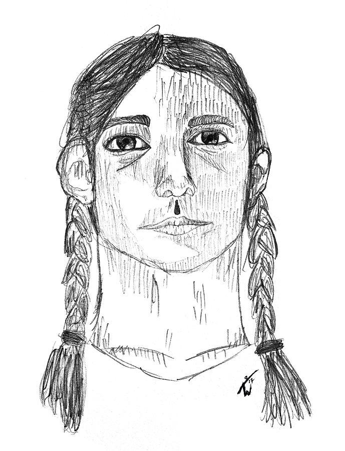 Teenage Girl Sketch : teenage, sketch, Teenage, Drawing, Autumn, Willow