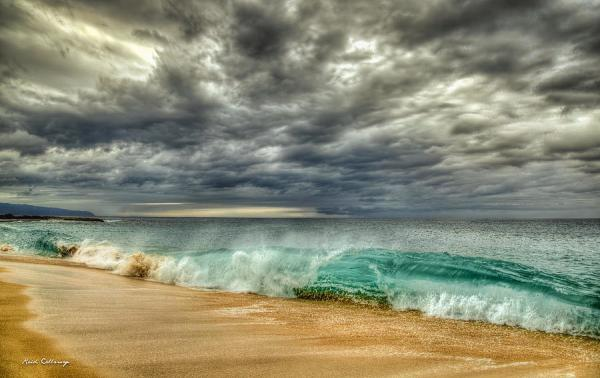 The Breaking Point Cloudy North Shore Oahu Hawaii Art