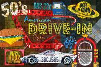 The Highway Never Closes License Plate Art Collage Mixed ...