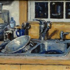 Kitchen Sink Paint Colorful Rugs The Painting By Thor Wickstrom Still
