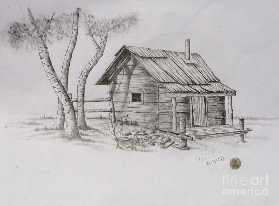 The Line Shack Drawing by Christopher Keeler Doolin