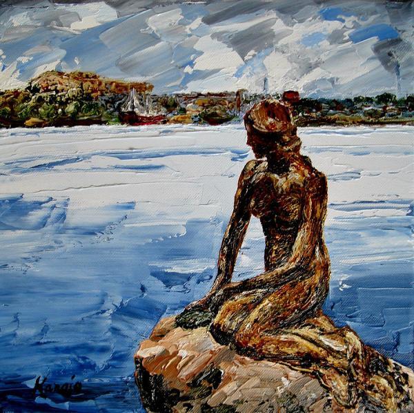 Little Mermaid Painting Wendy Winbeckler