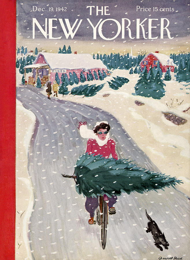 The New Yorker Cover December 19th 1942 By Garrett Price