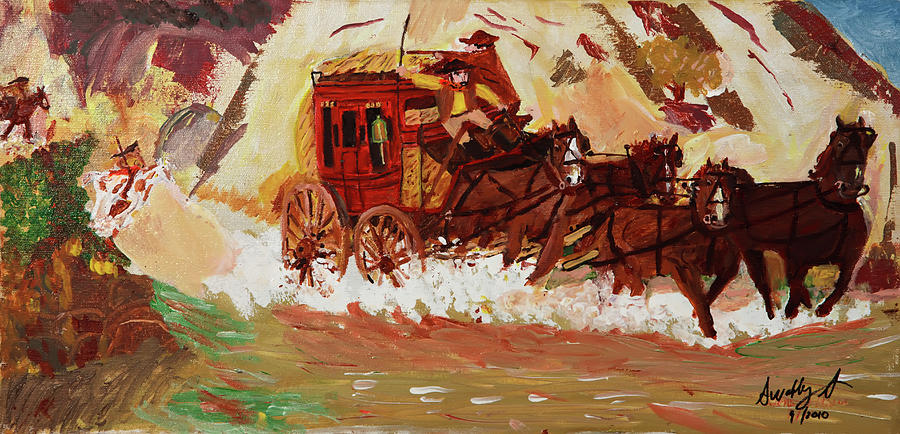 Chargers Iphone Wallpaper The Stagecoach Painting By Swabby Soileau