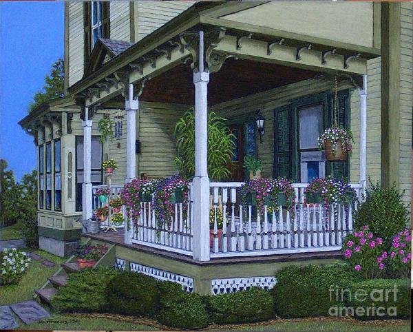 victorian porch painting